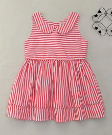 The KidShop Sassy Striped Collar Dress - Orange