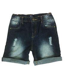 Kiddopanti Five Pocket Denim Shorts - Dark Wash