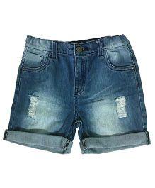 Kiddopanti Five Pocket Denim Shorts - Ice Wash