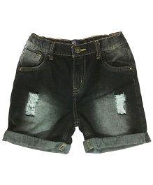 Kiddopanti Five Pocket Denim Shorts - Black