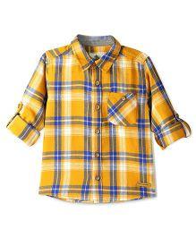 Cherry Crumble California Checkered Alabama Shirt - Yellow