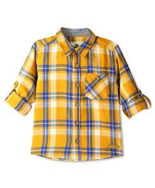 Cherry Crumble California Checkered Alabama Shirt - Yellow