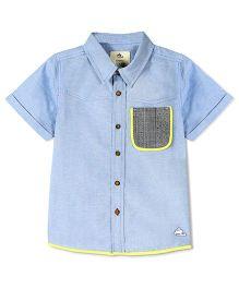 Cherry Crumble California Denim Premium Shirt - Blue