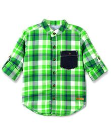 Cherry Crumble California Checkered Premium Cotton Shirt - Green