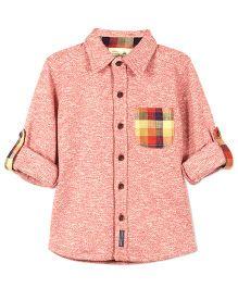 Cherry Crumble California Checkered Pocket Knit Shirt - Caramine
