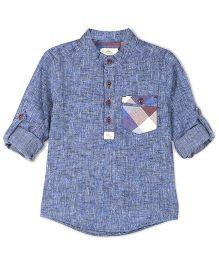 Cherry Crumble California Henley Shirt - Navy