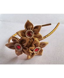 Soulfulsaai Gold Flowers Hairband - Golden