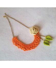 Soulfulsaai Bib Necklace - Orange
