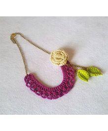 Soulfulsaai Bib Necklace - Purple