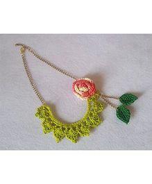 Soulfulsaai Bib Necklace - Light Green