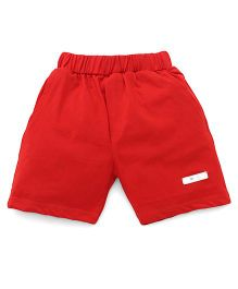 Mini Taurus Solid Color Shorts - Red