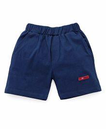 Mini Taurus Solid Color Shorts - Navy