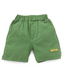 Mini Taurus Solid Color Shorts - Pista Green