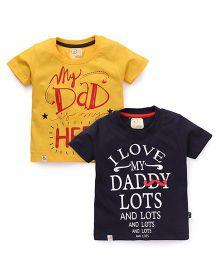 Olio Kids Half Sleeves T-Shirt Pack Of 2 - Yellow & Black