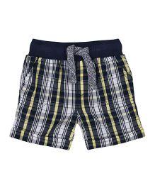 Mothercare Checks Shorts - White Grey Black