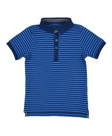 Mothercare Half Sleeves Stripes T-Shirt - Blue