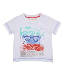 Mothercare Half Sleeves Printed T-Shirt - White