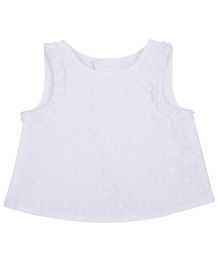 Mothercare Sleeveless Top Floral Print - White