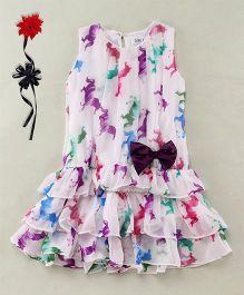 Soul Fairy Trendy Horse Print Dress - White