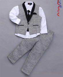 Robo Fry 3 Piece Party Suit With Tie - Black & Grey
