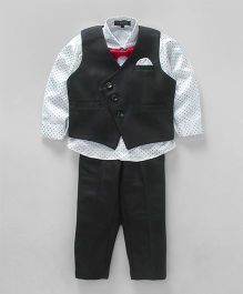 Robo Fry 3 Piece Party Suit With Bow - White Black