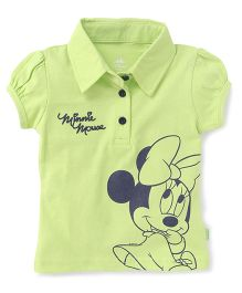 Bodycare Shorts Sleeves T-Shirts Minnie Mouse Print - Green