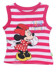 Bodycare Sleeveless T-Shirt Minnie Mouse Print - Pink White