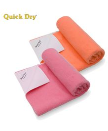 Quick Dry Bed Protector Twin Pack Small - Salmon Rose & Peach
