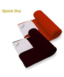 Quick Dry Bed Protector Twin Pack Medium - Maroon & Toffee