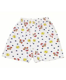 Kiwi Rocket Printed Shorts - Off White Multicolor