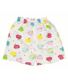 Kiwi Apple Printed Shorts - Off White Multicolor