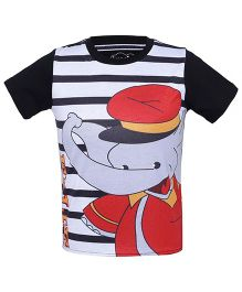 Imagica Half Sleeves T-Shirt Ellie Print - Black