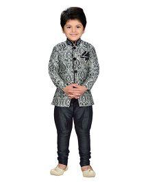 AJ Dezines Indo Western Sherwani Suit - Black