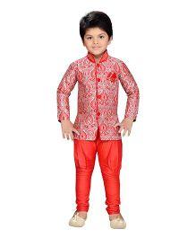 AJ Dezines Indo Western Sherwani Suit - Red