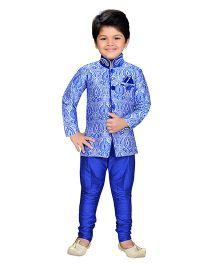 AJ Dezines Indo Western Sherwani Suit - Royal Blue