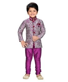 AJ Dezines Indo Western Sherwani Suit - Purple