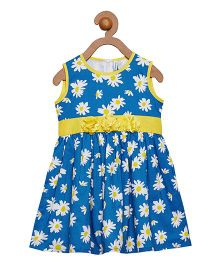 Campana Sleeveless Frock Floral Print - Blue
