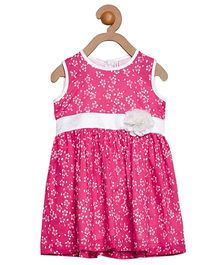 Campana Sleeveless Frock Floral Print - Pink