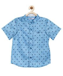 Campana Half Sleeves Printed Shirt - Blue