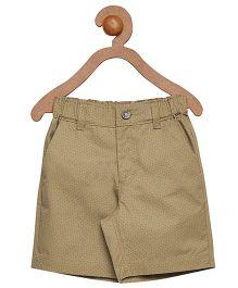 Campana Zipper Shorts -  Beige