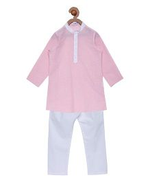 Campana Full Sleeves Kurta Pyjama Set - Pink
