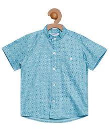 Campana Half Sleeves Printed Shirt - Blue