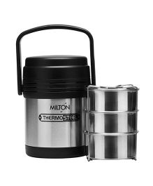 Milton Hot Meal Thermosteel Insulated Lunch Box - Black Silver