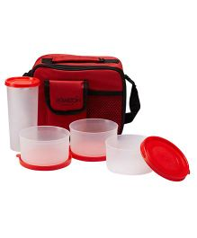 Milton Combi Meal Snacks Lunch Box Set With Bag - Red