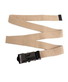 Kid-o-nation Belt With Self Lock With Horse Print - Beige