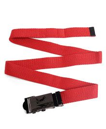 Kid-o-nation Belt With Self Lock With Horse Print - Red