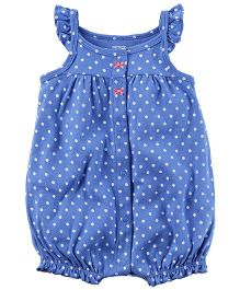 Carter's Snap-Up Cotton Romper - Blue