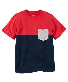 Carter's Colorblock Pocket Tee - Navy Blue