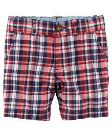 Carter's Plaid Flat-Front Twill Shorts - Multi Color