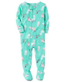 Carter's 1-Piece Snug Fit Cotton PJs - Green